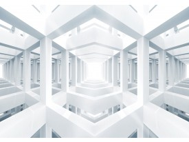 Fotobehang Vlies | 3D, Design | Wit | 368x254cm (bxh)