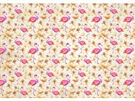 Fotobehang Vlies | Flamingo, Bloemen | Roze | 368x254cm (bxh)