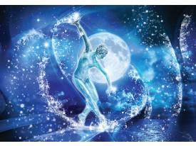 Fotobehang Vlies   Dansen, Abstract   Blauw   368x254cm (bxh)