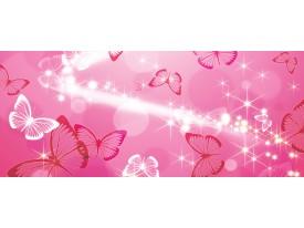 Fotobehang Abstract, Vlinder   Roze   250x104cm