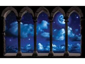 Fotobehang Nacht, Lucht | Blauw | 104x70,5cm