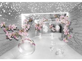 Fotobehang Vlies | 3D, Design | Grijs | 368x254cm (bxh)