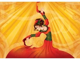 Fotobehang Vlies | Vrouw, Dansen | Geel | 368x254cm (bxh)