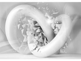 Fotobehang 3D, Design   Grijs, Wit   104x70,5cm