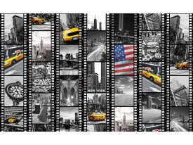Fotobehang New York | Zwart, Geel | 152,5x104cm