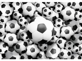 Fotobehang Voetbal | Zwart, Wit | 312x219cm