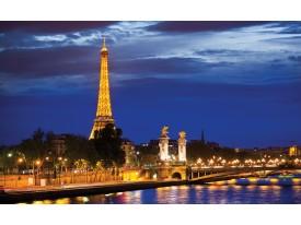 Fotobehang Vlies | Parijs, Steden | Blauw | 368x254cm (bxh)