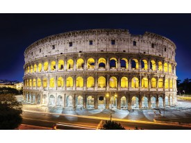 Fotobehang Papier Rome, Steden | Geel | 254x184cm