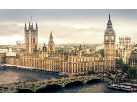 Fotobehang Vlies | Engeland | Grijs | 368x254cm (bxh)