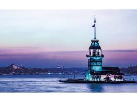 Fotobehang Vlies | Uitzicht | Paarse, Blauw | 368x254cm (bxh)
