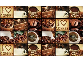 Fotobehang Vlies | Keuken, Koffie | Bruin | 368x254cm (bxh)