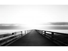 Fotobehang Vlies | Brug, Zee | Zwart | 368x254cm (bxh)
