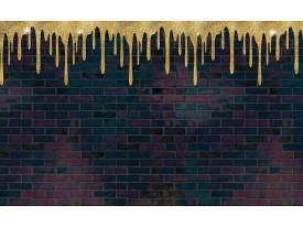Fotobehang Vlies | Stenen, Muur | Geel, Paars | 368x254cm (bxh)