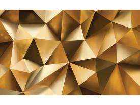 Fotobehang Vlies | 3D, Design | Goud | 368x254cm (bxh)