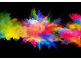 Fotobehang Vlies | Design, Kleurrijk | Zwart, Geel | 368x254cm (bxh)