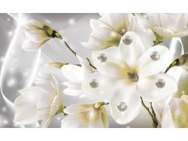 Fotobehang Vlies | Magnolia | Groen, Grijs | 368x254cm (bxh)