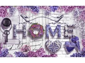 Fotobehang Vlies | Home, Modern | Grijs, Paars | 368x254cm (bxh)