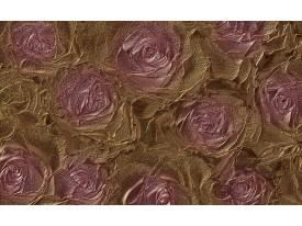 Fotobehang Vlies | Roze, Bloem | Roze, Goud | 368x254cm (bxh)