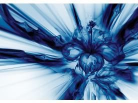 Fotobehang Vlies | Abstract | Blauw, Wit | 368x254cm (bxh)