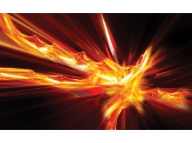 Fotobehang Vlies | Design, Abstract | Oranje, Rood | 368x254cm (bxh)