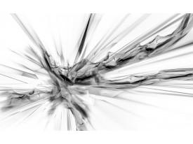 Fotobehang Vlies | Abstract | Wit, Zwart | 368x254cm (bxh)