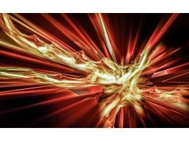 Fotobehang Vlies | Abstract | Rood, Goud | 368x254cm (bxh)