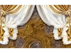 Fotobehang Vlies | Slaapkamer | Goud, Wit | 368x254cm (bxh)