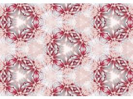Fotobehang Vlies | Modern, Bloem | Rood | 368x254cm (bxh)