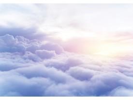 Fotobehang Vlies | Wolken | Paars, Blauw | 368x254cm (bxh)