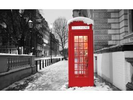 Fotobehang Vlies | Engeland | Zwart, Rood | 368x254cm (bxh)