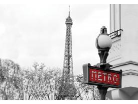 Fotobehang Vlies | Parijs | Rood, Grijs | 368x254cm (bxh)