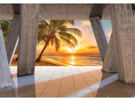 Fotobehang Vlies | Zonsondergang | Oranje | 368x254cm (bxh)