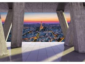 Fotobehang Vlies | Parijs, Hout | Paars | 368x254cm (bxh)