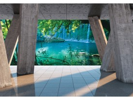 Fotobehang Vlies | Natuur | Grijs, Groen | 368x254cm (bxh)