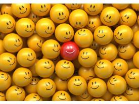 Fotobehang Vlies | Smileys | Geel, Rood | 368x254cm (bxh)