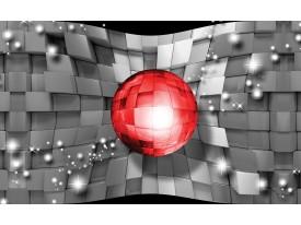 Fotobehang Vlies | 3D, Design | Rood | 368x254cm (bxh)