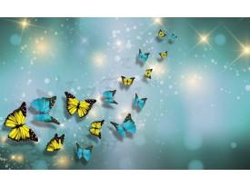 Fotobehang Vlies | Modern | Turquoise, Geel | 368x254cm (bxh)
