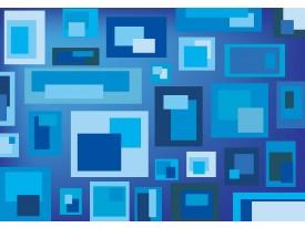 Fotobehang Vlies | Design | Blauw, Grijs | 368x254cm (bxh)
