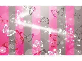 Fotobehang Abstract, Vlinder | Roze | 312x219cm