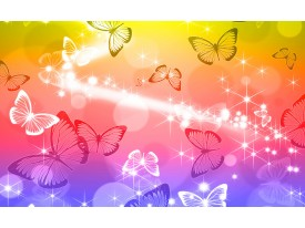 Fotobehang Papier Vlinder | Geel, Rood | 254x184cm