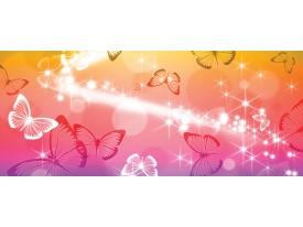 Fotobehang Vlinder | Geel, Rood | 250x104cm