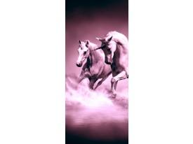 Fotobehang Paarden   Paars   91x211cm