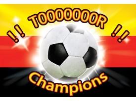 Fotobehang Vlies | Voetbal | Rood, Zwart | 368x254cm (bxh)
