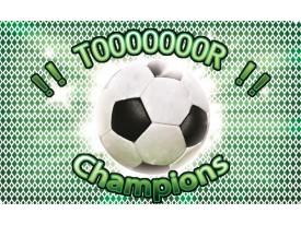 Fotobehang Voetbal | Groen, Wit | 208x146cm
