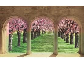 Fotobehang Natuur | Groen, Crème | 104x70,5cm