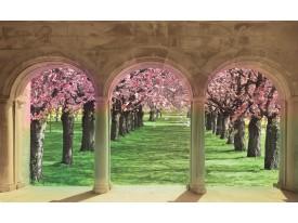 Fotobehang Vlies | Natuur | Groen, Crème | 368x254cm (bxh)