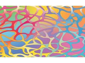 Fotobehang Papier Abstract | Roze, Blauw | 254x184cm