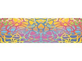 Fotobehang Vlies Abstract | Roze, Blauw | GROOT 624x219cm