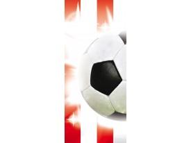 Fotobehang Voetbal | Rood, Wit | 91x211cm