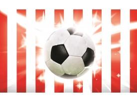 Fotobehang Voetbal | Rood, Wit | 152,5x104cm